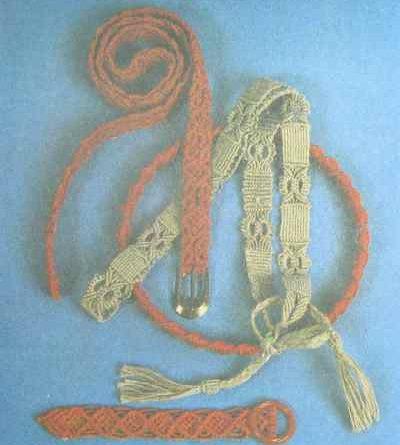 фото Плетение пояса