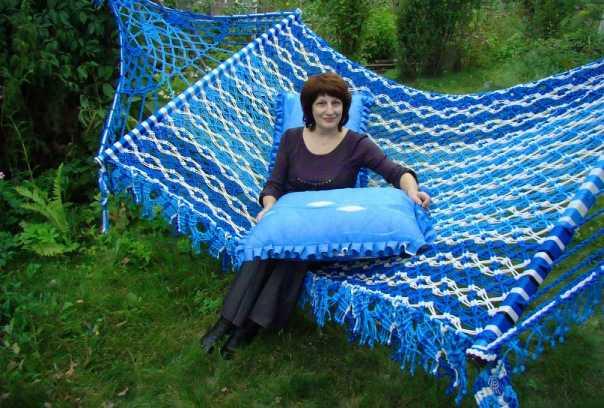 фото плетеный гамак