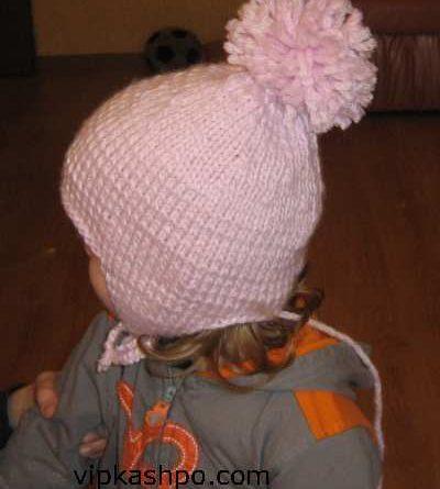детская шапочка с ушками. Вид сбоку.