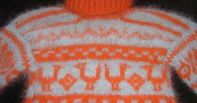 детский свитер со скандинавским узором