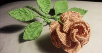 роза макраме
