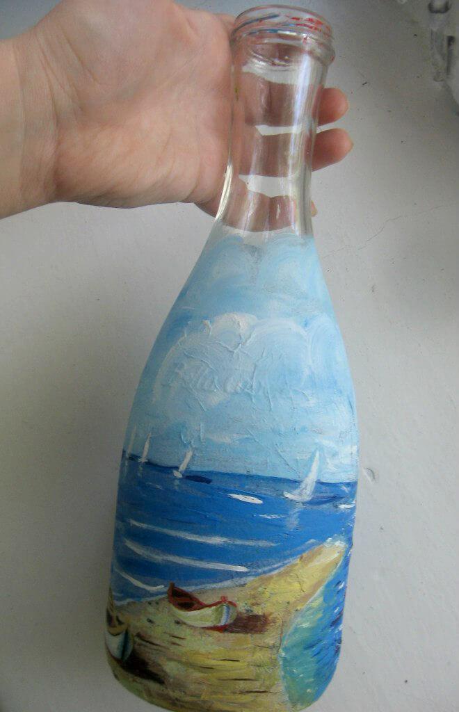 Декупаж бутылок для новичков пошагово