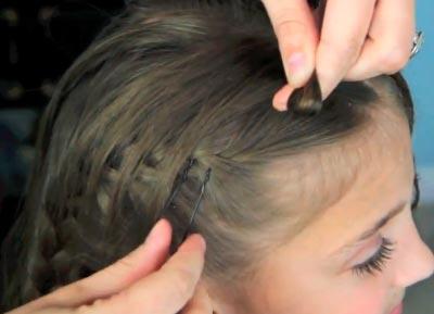 плетение косичек бантики для девочек фото пошагово