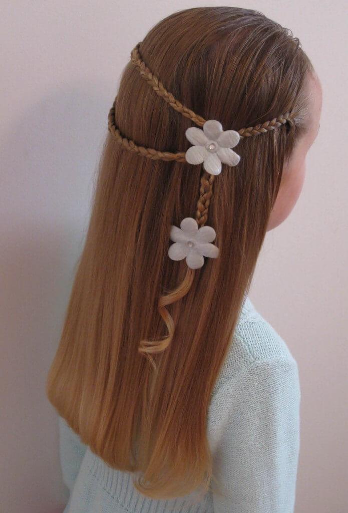 плетение простых косичек для маленьких девочек фото пошагово