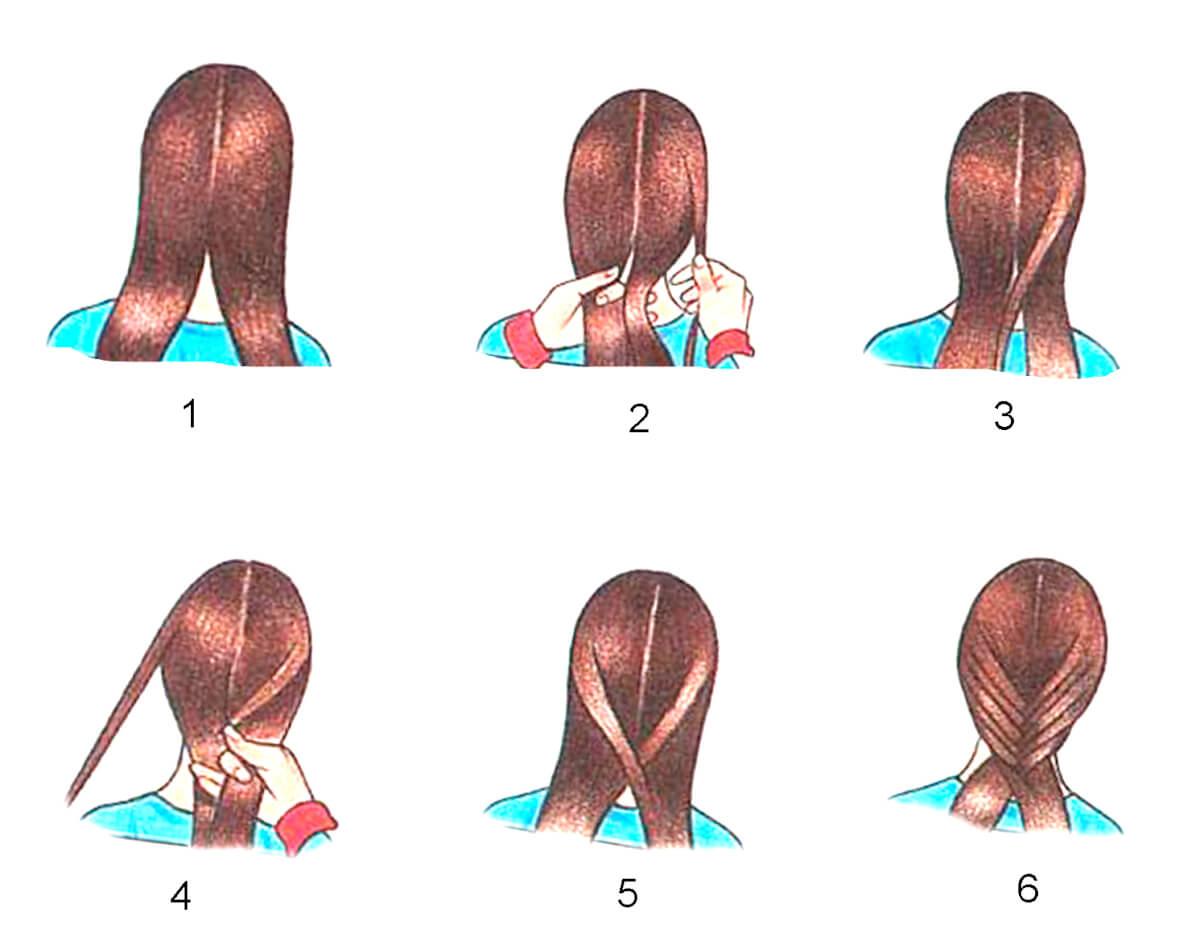 Как научиться плести косички самой себе на средние волосы 27