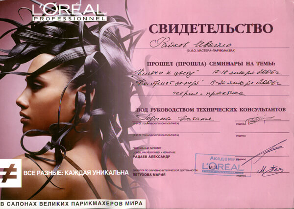 Сертификат Райкова Ивайло