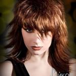 Градуированная стрижка для волос средней длины