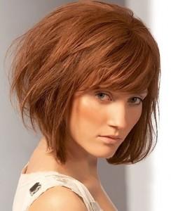 градуированные стрижки для тонких волос