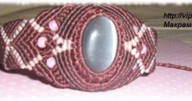 Макраме украшение - браслет
