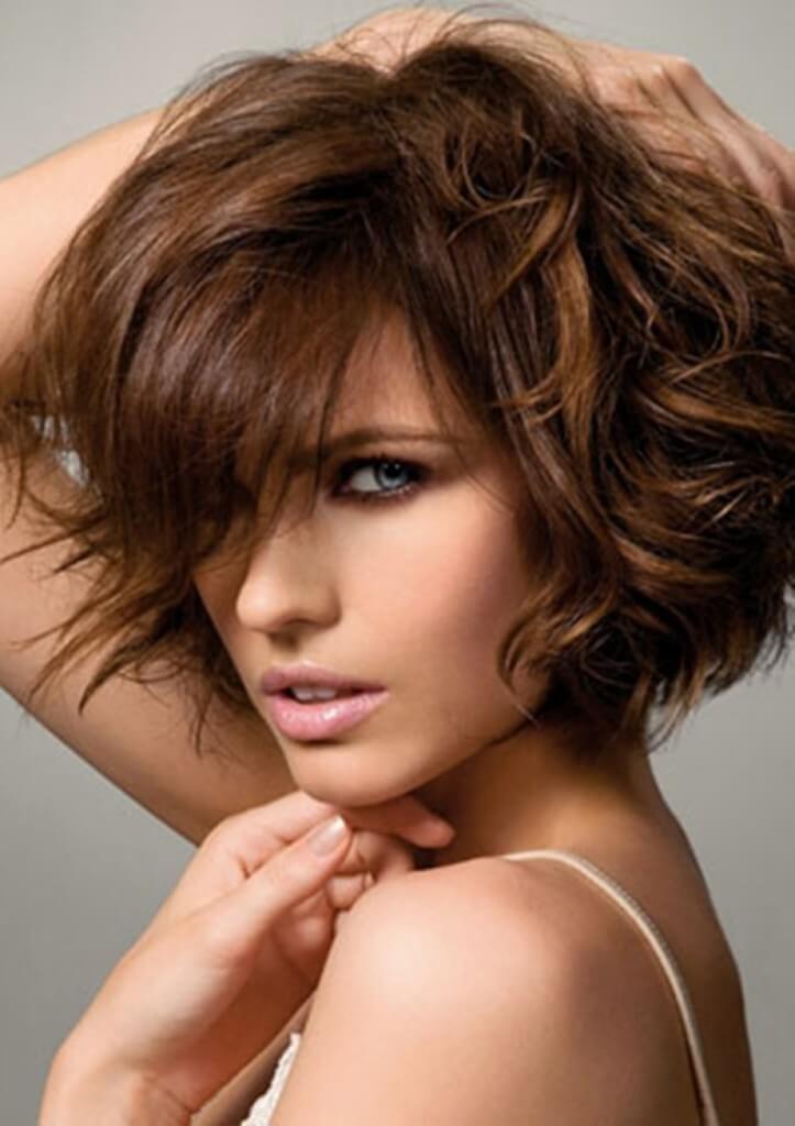 женские стрижки на короткие вьющиеся волосы фото