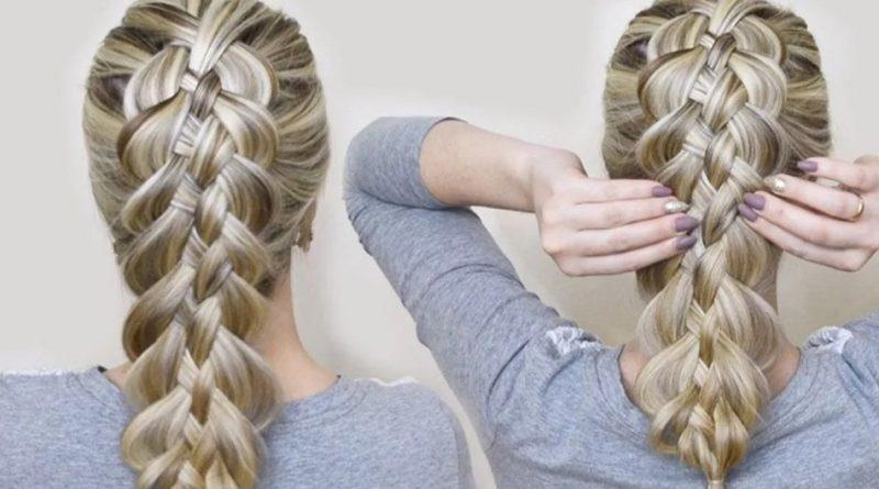 Как заплести косу самой себе