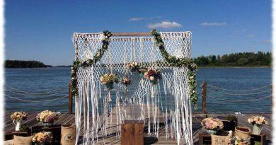 свадебная арка из макраме