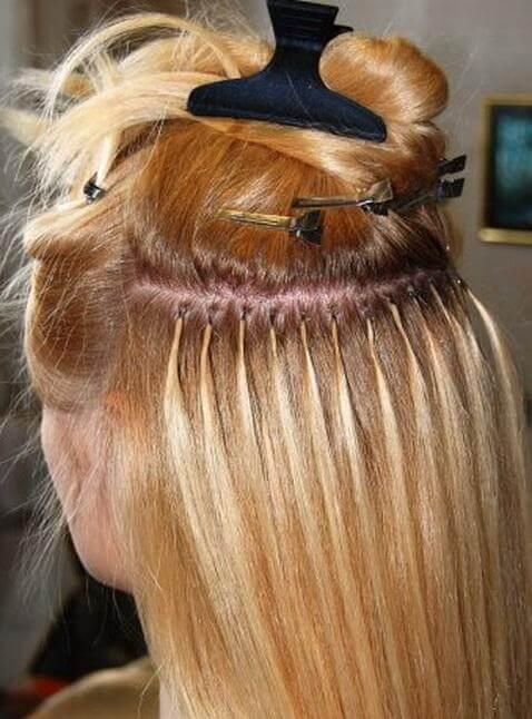 Кератиновое наращивание волос фоото