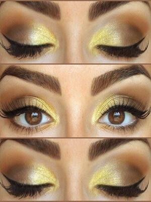 макияж в золотых тонах фото