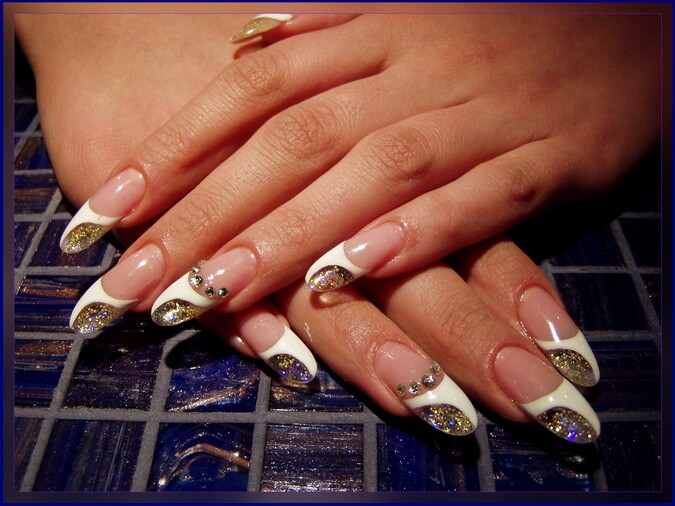 тканевые ногти фото