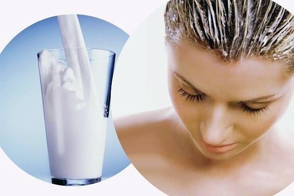 молочная маска для волос