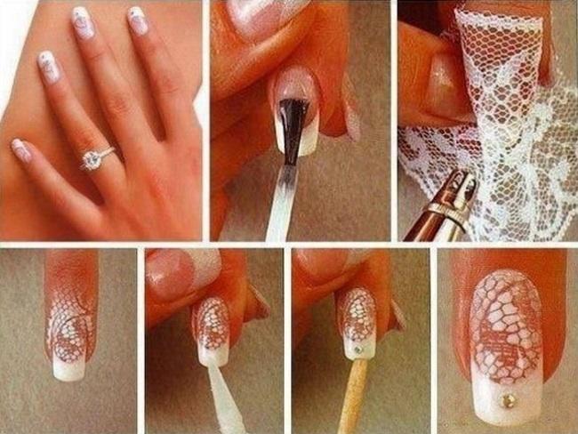 Как сделать узор на ногте дома