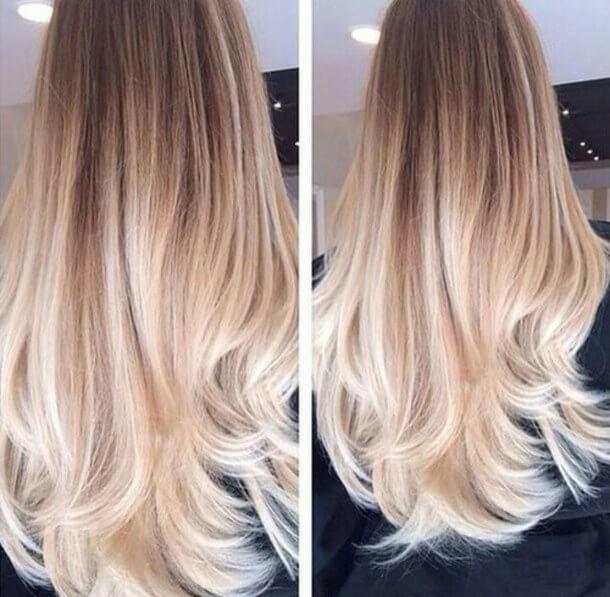 Омбре на мелированные волосы - 6