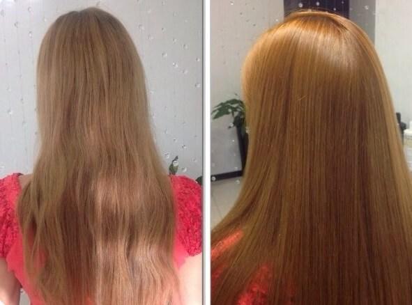 ламинирование волос с хной