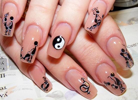 Сами рисуем на ногтях