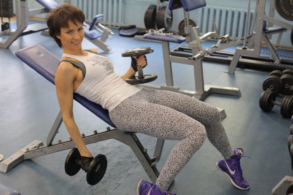 фото Ирина Турчинская в спортзале
