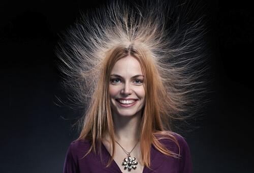Электризация волос фото