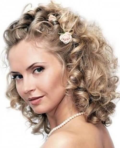 Праздничная прическа на средние волосы фото своими руками