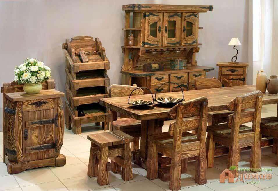 фото браширования дерева в мебели