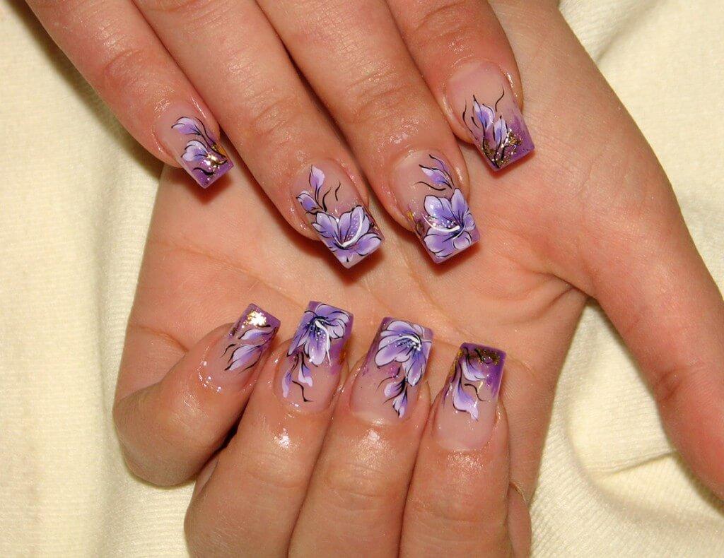 Модные рисунки на ногтях гель-лаком: фото и видео 55