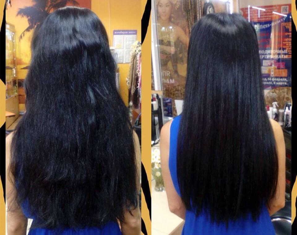 полировка посеченных волос фото до и после