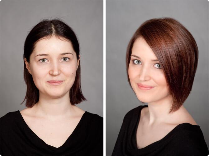 3d-окрашивание темных волос