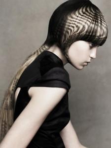 трафаретное окрашивание длинных волос фото