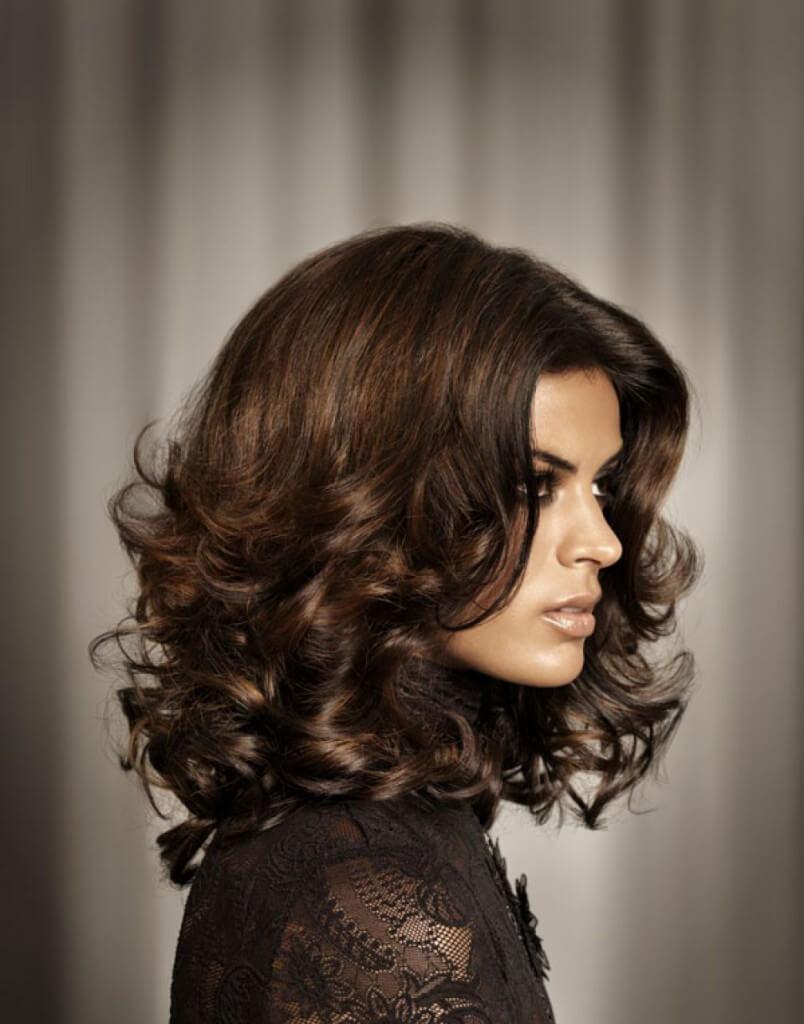 голливудские локоны укладка на средние волосы фото