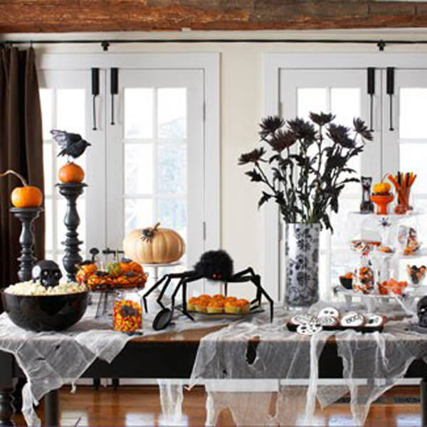 фото интерьера комнаты на хэллоуин