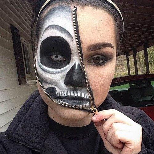 фото ужасающего макияжа на хэллоуин
