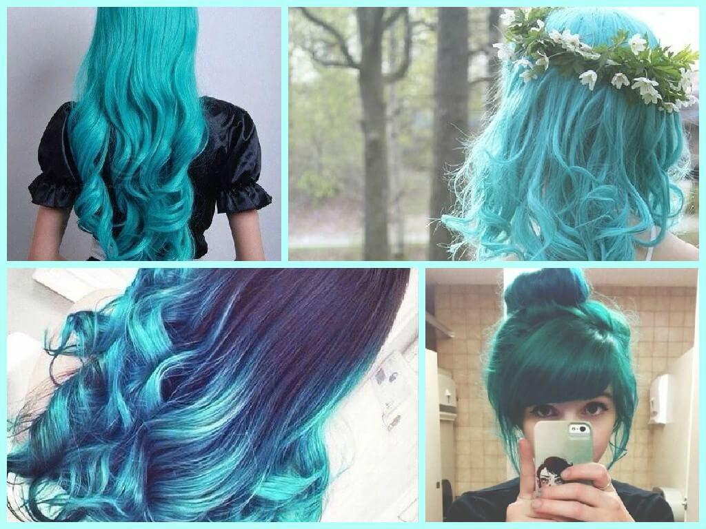 как красиво покрасить волосы мелком