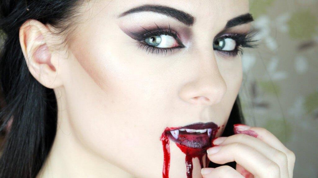фото макияж вампира на хэллоуин