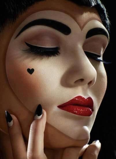фото макияж пиковой дамы