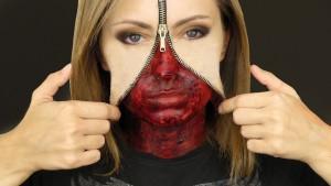 фото макияж на хэллоуин с замком