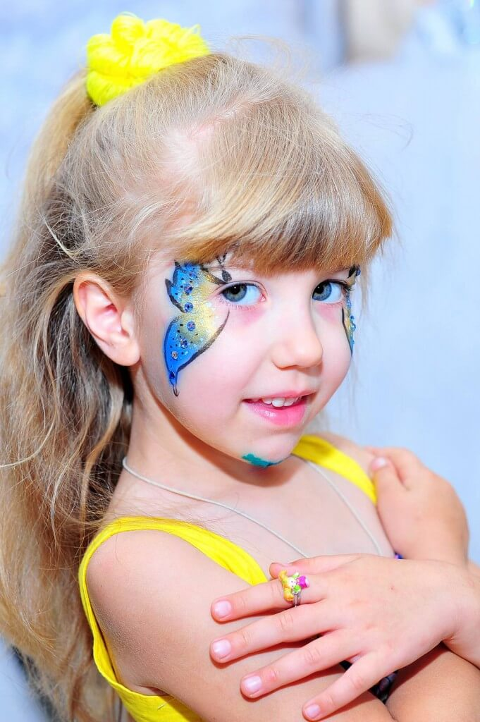 рисунки аквагримом на лице ребенка для начинающих
