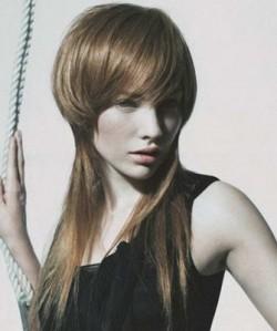фото стрижка гаврош на длинные волосы