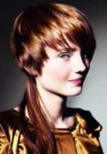 фото женской стрижки гаврош на длинные волосы