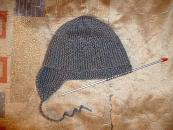 фото вязаные шапки ушанки