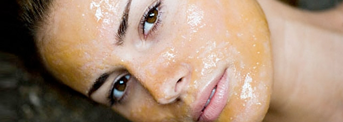фото желтого пилинга лица