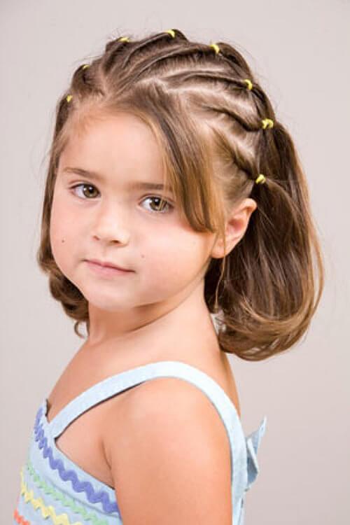 Прическа для девочки с жидкими волосами