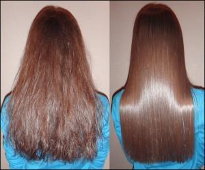 фото кератиновой реконструкции волос