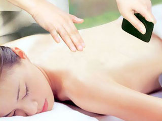фото китайского массажа гуаша