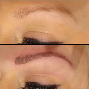 фото до и после полуперманентного восстановления бровей
