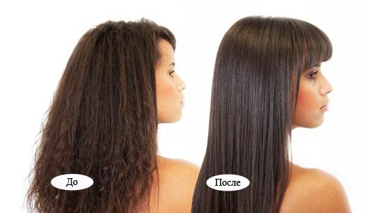 фото выпрямления волос кератином