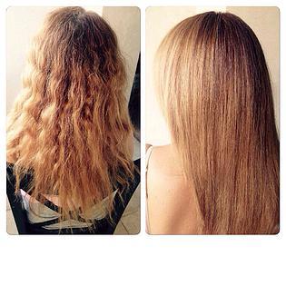 Коллагеновое обёртывание волос дает прекрасный результат